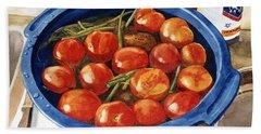 Soaking Tomatoes Beach Sheet
