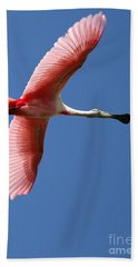 Soaring High Roseate Spoonbill Beach Towel