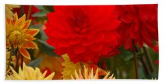 Beach Sheet featuring the photograph Sockeye And Upmost Dahlias by Jordan Blackstone