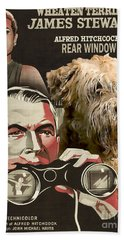 Soft-coated Wheaten Terrier  - Wheaten Terrier Art Canvas Print - Rear Window Movie Poster Beach Towel