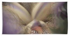 Soft Iris Flower Beach Towel