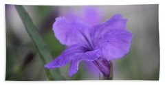 Beach Towel featuring the photograph Soft Purple Floral by Penny Meyers