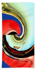 Soft Reflection - Abstract Art Beach Sheet by Art America Gallery Peter Potter