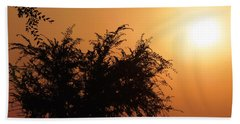 Soft Sunrise Beach Towel by Meghan at FireBonnet Art