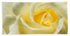 Soft Yellow Rose Beach Towel