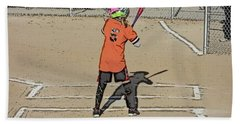 Softball Star Beach Towel by Michael Porchik