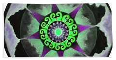 Solar Soul Purple Sky Beach Towel