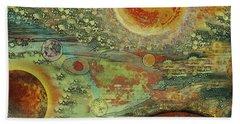 Solar Symphony Beach Sheet by Carol Jacobs