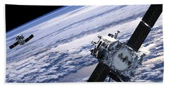 Solar Terrestrial Relations Observatory Satellites Beach Towel by Anonymous