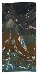 Beach Towel featuring the painting Solar Winds by Jason Girard