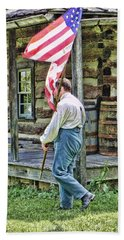 Beach Sheet featuring the photograph Soldier At Bedford Village Pa by Kathy Churchman