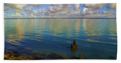 Beach Towel featuring the digital art Solent by Ron Harpham