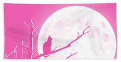 Solitary Pink Background Beach Towel