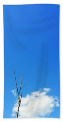 Solitude - Blue Sky Art By Sharon Cummings Beach Towel