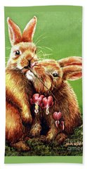 Some Bunny Loves You Beach Towel by Linda Simon