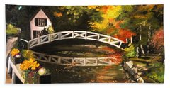 Somesville Maine Footbridge Beach Towel