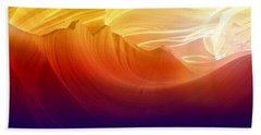 Beach Sheet featuring the photograph Somewhere In America Series - Colorful Light In Antelope Canyon by Lilia D