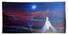 Song Of The Silent Autumn Night Beach Sheet