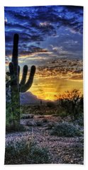 Sonoran Sunrise  Beach Sheet by Saija  Lehtonen