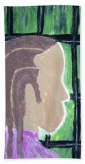 Abstract Man Art Painting  Beach Sheet