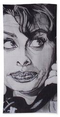 Sophia Loren Telephones Beach Towel by Sean Connolly