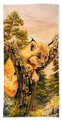 Soul Of Pine Forest Beach Towel