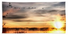 South Carolina Morning Beach Towel by Lynne Jenkins