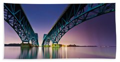 Beach Sheet featuring the photograph South Grand Island Bridge by Mihai Andritoiu