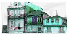 South Side Of Town-featured In Old Buildings And Ruins Group Beach Towel