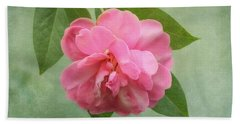 Southern Camellia Flower Beach Towel