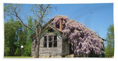 Southern Country Wisteria Beach Towel