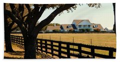 Southfork Ranch - Across The Pasture Beach Towel by Robert ONeil