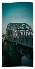 Southside Bridge  Beach Towel by Shane Holsclaw