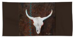 Beach Towel featuring the painting Southwestern Influence by Judith Rhue