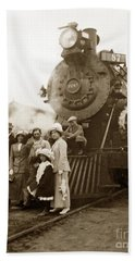 S P Baldwin Locomotive 2285  Class T-26 Ten Wheel Steam Locomotive At Pacific Grove California 1910 Beach Towel