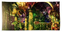 Space Garden Beach Towel by Ally  White
