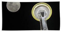 Space Needle Beach Towel by David Gleeson