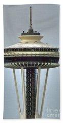 Space Needle Tower Seattle Washington Beach Towel