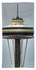 Space Needle Tower Seattle Washington Beach Sheet