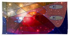 Space Odyssey 08 Beach Towel by Ron Davidson