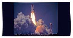 Space Shuttle Challenger Sts-6 First Flight 1983 Photo 1  Beach Towel