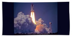 Space Shuttle Challenger Sts-6 First Flight 1983 Photo 1  Beach Towel by Marie Hicks