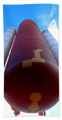 Space Shuttle Fuel Tank And Boosters Beach Sheet