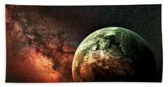 Spaced Out Beach Towel by Ally  White