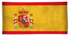 Spain Flag Vintage Distressed Finish Beach Towel