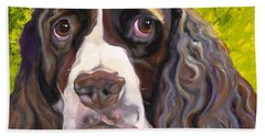 Spaniel The Eyes Have It Beach Sheet