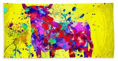 Spanish Bull Beach Towel by Daniel Janda