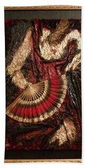 Spanish Dancer Framed Beach Sheet