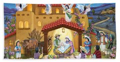 Spanish Nativity Beach Towel