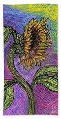 Spanish Sunflower Beach Sheet by Sarah Loft